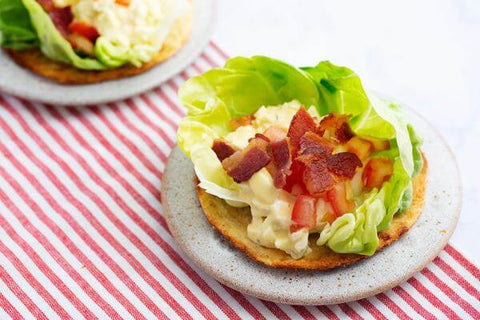 BLT Egg Salad Flatbreads