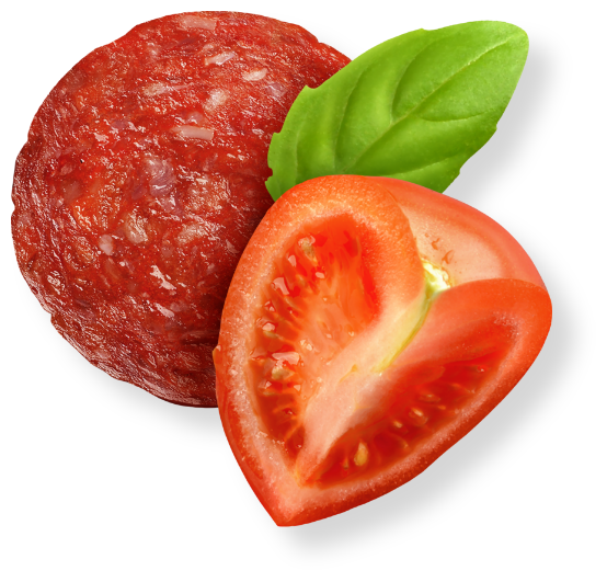 Pepperoni, Tomato and Basil Ingredients