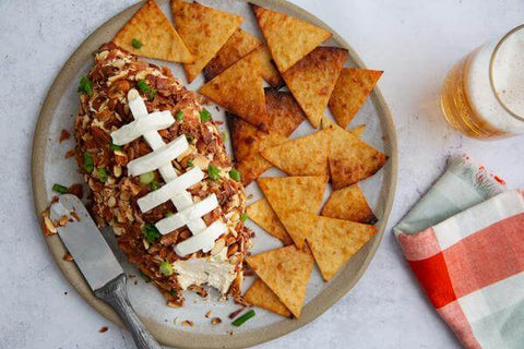 Keto Game Day Cheese Ball with Cali'Crisps