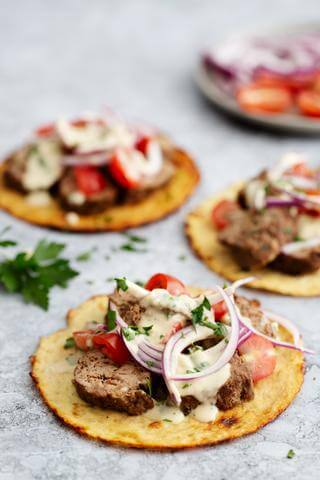 Keto Kebabs with Flatbreads