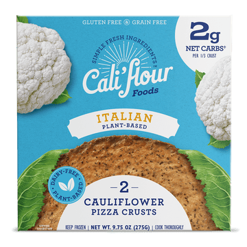 Plant-Based Italian Cauliflower Pizza Crusts Front of Box
