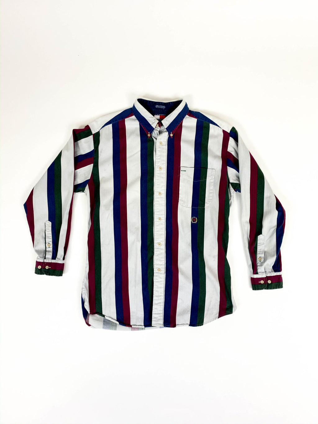 Vintage Striped Tommy Hilfiger Lion Crest Shirt / Size L