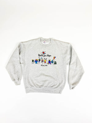 Alaska 1995 Walk For Hope Sweatshirt / Size M