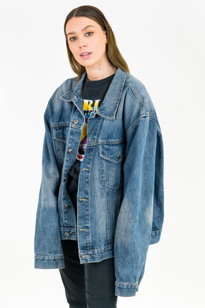 Vintage Go West Denim Jacket / Size L