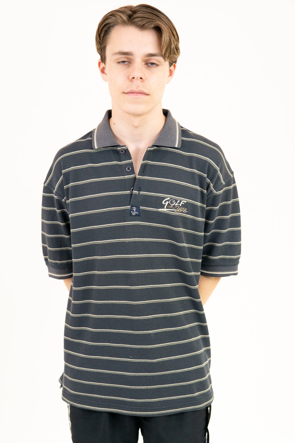 Vintage Sydney 2000 Striped Golf Polo / Size L
