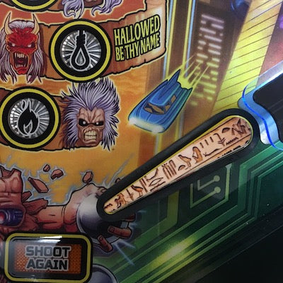 Iron Maiden Pinball Hieroglyphs Flipper Bat Toppers