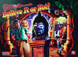 Ripley's Believe it Or Now Pinball Interactive Back Box Light Kit