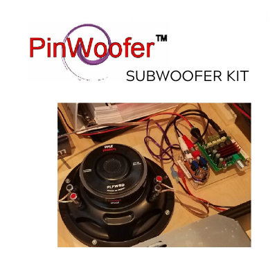 "PinWoofer 8"" Subwoofer Kit- Chicago Gaming"