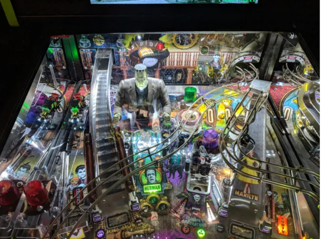 The Munsters Pinball Backboard Illumination