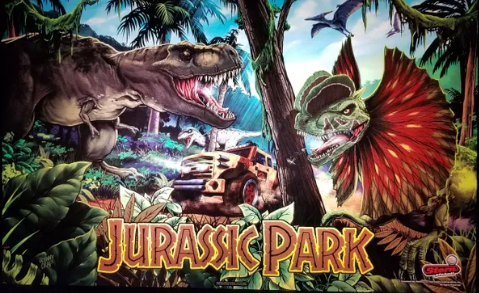 Jurassic Park Pinball Custom Backbox Lighting Kit