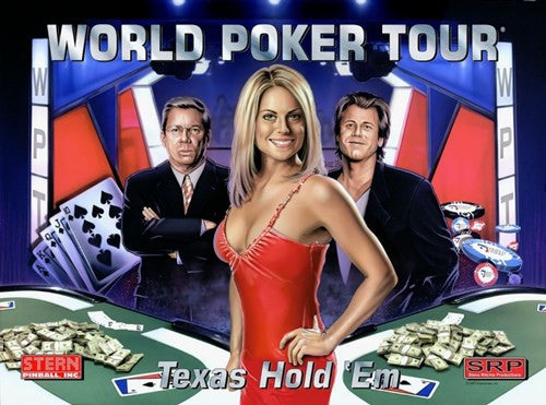 World Poker Tour Pinball Interactive Back Box Light Kit