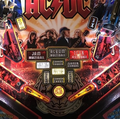 AC/DC Pinball Guitar Flipper Bat Toppers