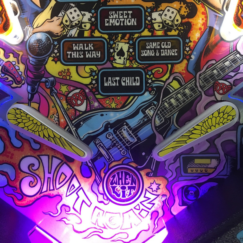 Aerosmith Pinball Wings Flipper Toppers