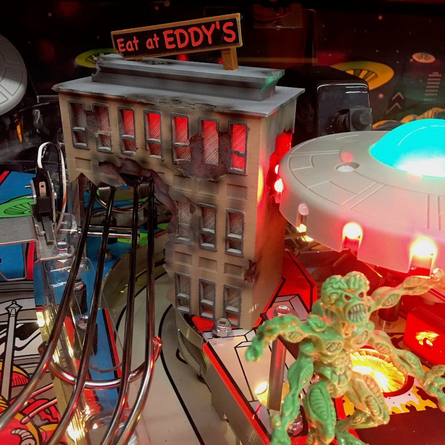 Attack from Mars Pinball Eat at Eddy's Building