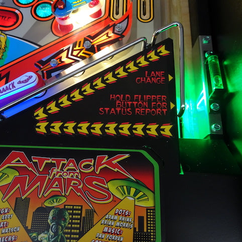 Attack from Mars Pinball Remake Trough Light
