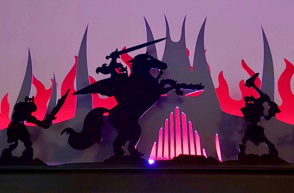 Black Knight Pinball Silhouette Topper