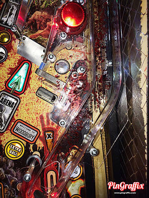 Walking Dead Pinball Blood Splatter Decals - Mezel Mods  - 3