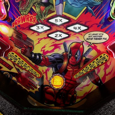 Deadpool Pinball Caution Flipper Bat Toppers