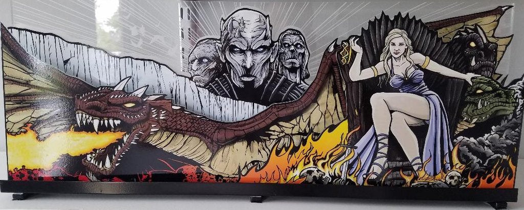 Game of Thrones Pinball Acrylic Topper