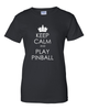 Keep Calm Pinball Tee Shirts- Women - Mezel Mods  - 4