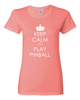 Keep Calm Pinball Tee Shirts- Women - Mezel Mods  - 5