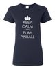 Keep Calm Pinball Tee Shirts- Women - Mezel Mods  - 2