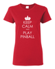 Keep Calm Pinball Tee Shirts- Women - Mezel Mods  - 3
