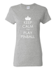 Keep Calm Pinball Tee Shirts- Women - Mezel Mods  - 1