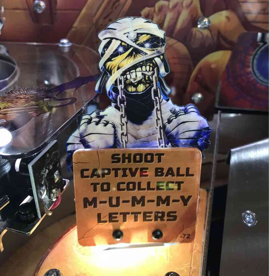 Iron Maiden Pro Pinball Eddie Mummy Sign