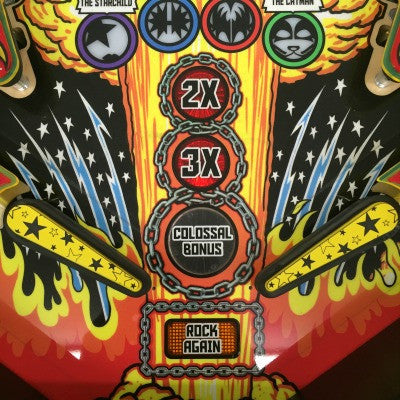 Kiss Pinball Star Flipper Bats (set of two) - Mezel Mods  - 1