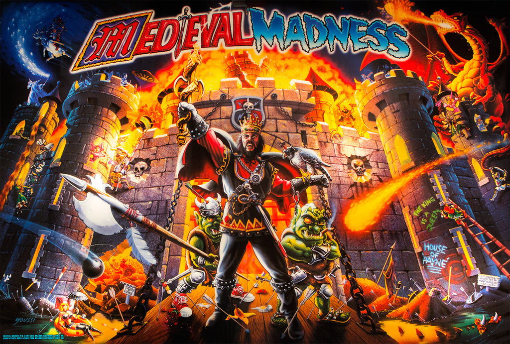 Medieval Madness Remake Pinball Interactive Under-cabinet Light Kit