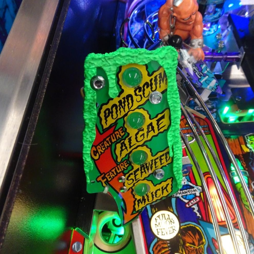 Monster Bash Pinball Algae Playfield Accessories