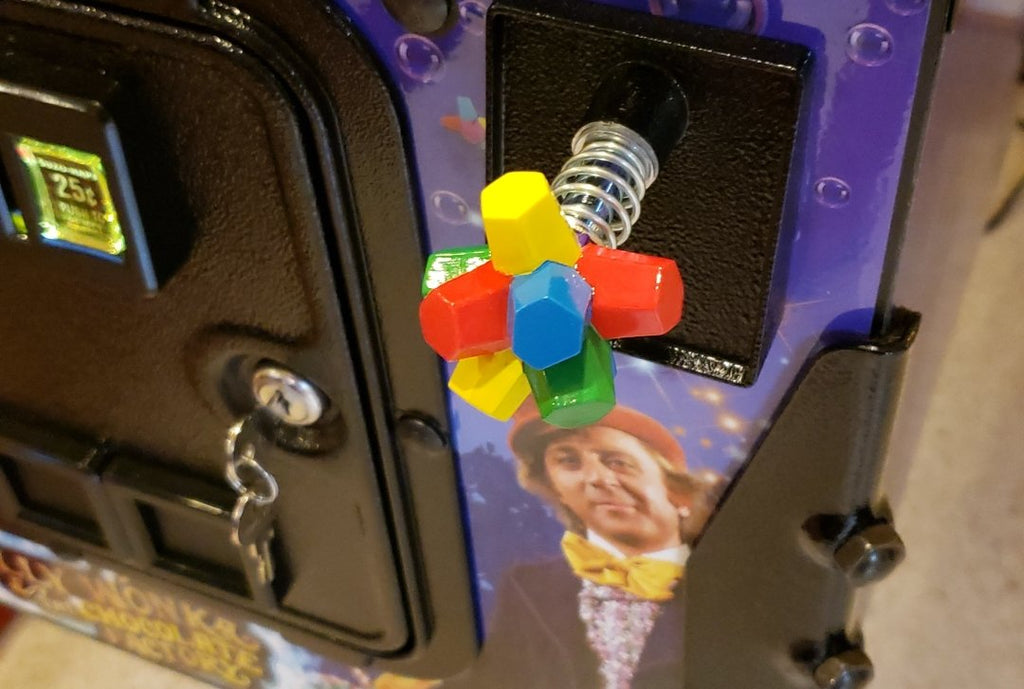 Willy Wonka Pinball Gobstopper Shooter Rod & Plate Rods