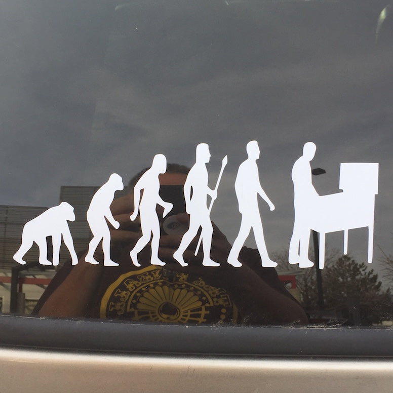 Pinball Evolution Car Decal