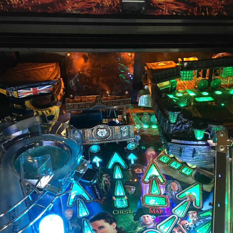 Pirates of the Caribbean Pinball Backboard Illumination