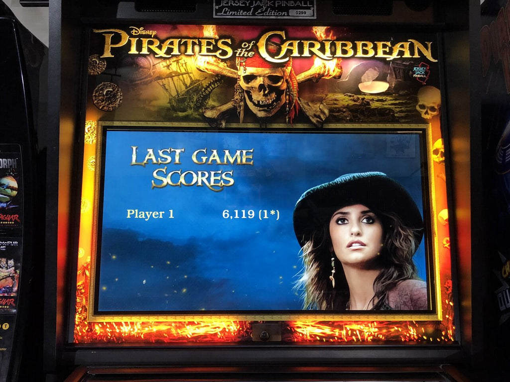 Pirates of the Caribbean Pinball Translite Illumination