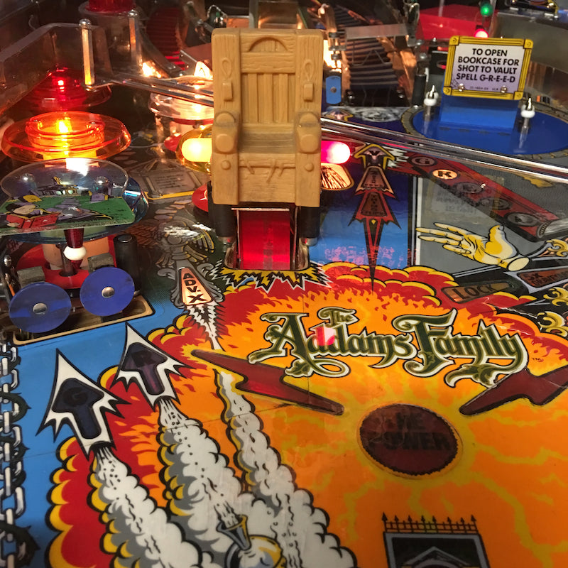 The Addams Family Pinball Chair Scoop Illumination