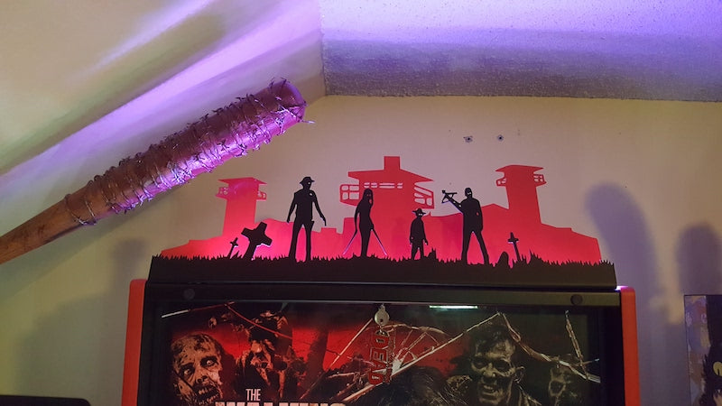 The Walking Dead Pinball Silhouette Topper