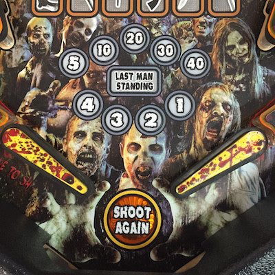 Walking Dead Pinball Blood Splatter Decals - Mezel Mods  - 1