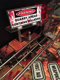 Walking Dead Pinball Quarry Sign