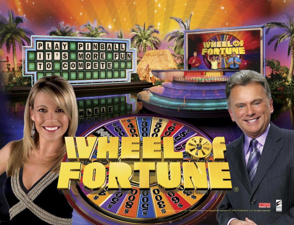 Wheel of Fortune Pinball Interactive Back Box Light Kit