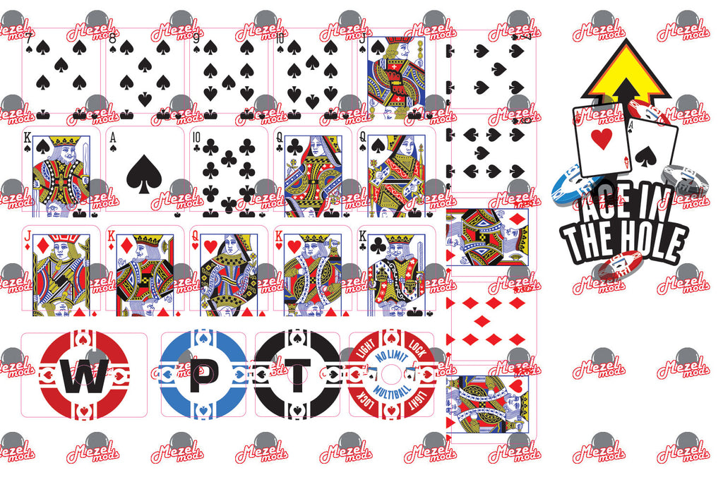 World Poker Tour Target Decal Set