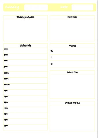Free Daily Planner Download