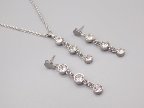 April Birthstone Necklace & Earring Set