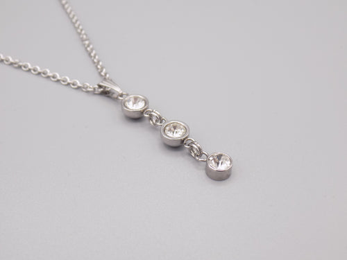 April Birthstone Pendant Necklace