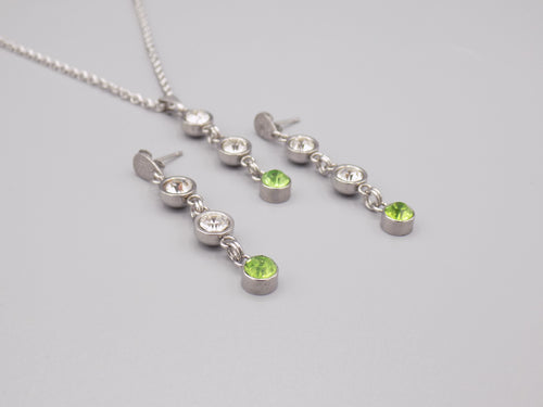 August Birthstone Necklace & Earring Set