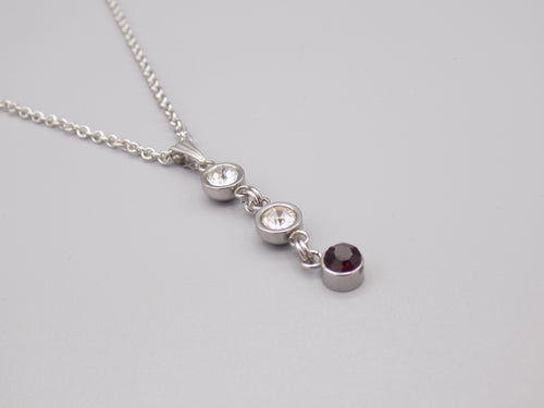 February Birthstone Pendant Necklace