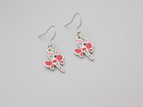 Candy Cane Charm Earrings