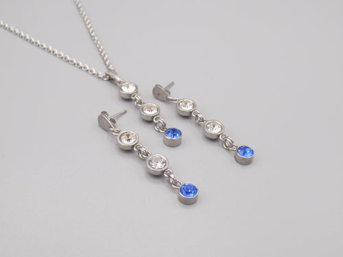 December Birthstone Necklace & Earring Set