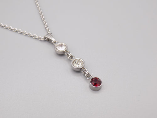 January Birthstone Pendant Necklace
